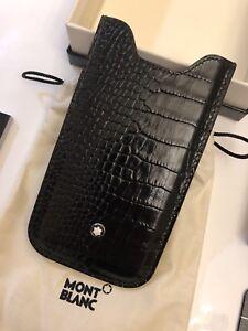 NEU-MONTBLANC-MST-iPhone-5-5S-SE-Leder-Huelle-PHONE-CASE-Onyx-NP-200-1220