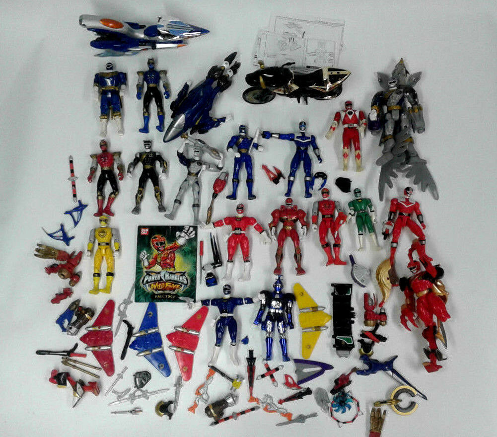 50+ Piece Lot of MMPR Mighty Morphin Power Rangers and Accessories, Booklets