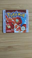 Etiquette/sticker remplacement Game Boy - Pokemon Rouge