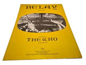 """PARTITION PETER TOWNSEND - THE WHO """"RELAY"""" 1972 SHEET MUSIC - TRACK RECORDS"""