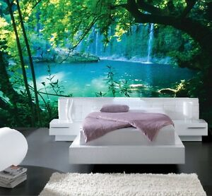 papier peint 3d trompe l 39 oeil nature photo murale. Black Bedroom Furniture Sets. Home Design Ideas