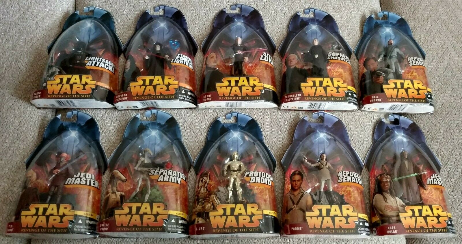Lot Of 10 10 10 Star Wars redS 2005 Action Figures (lot b) 528fd3