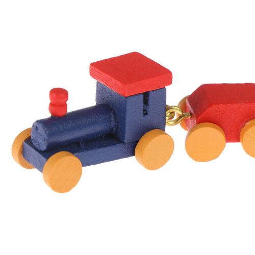 1:12 Puppenhaus Miniatur Niedlicher Holzzug Puppenhaus Dekor Aktives SpielzeuDND