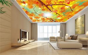3D Sun Maple Leaf 75 Ceiling WallPaper Murals Wall Print Decal Deco AJ WALLPAPER