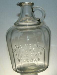 Antique-Apple-Pie-Ridge-Pure-Apple-Cider-Vinegar-Jug-Bottle-Pour-Spout-Loop-Hole