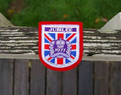Jubilee 1977 The Queens Silver Jubilee Crown Logo Embroidered Patch