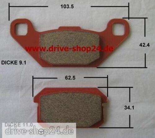 8OS SINTER Bremsklötze Bremsbeläge Bremsen für Quad CPI XS 250 hinten ATV FA250