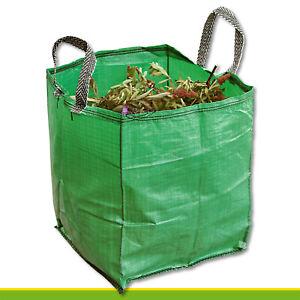 120L-Gartentasche-GoBag-Laub-Aste-Blumen-Pflanzen-Abfall-Kompost-Bio