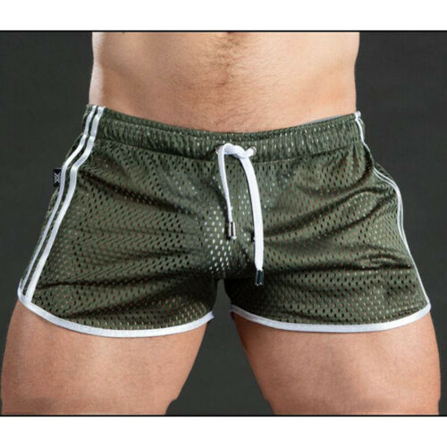 Men Mesh Breathable Sports Casual Fitness Pants Training Shorts Beach Trunks