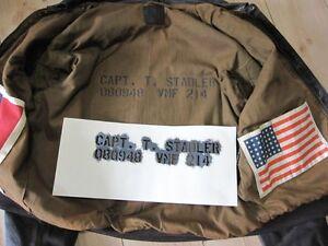 """Stencil f Flightjacket Fliegerjacke A2 G1 US Army USMC Marines Vietnam Navy 3/4"""""""