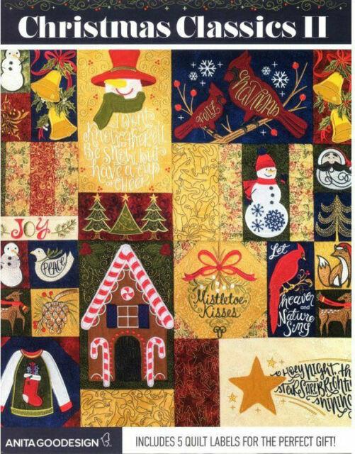 Christmas Quilt Blocks Anita Goodesign Embroidery Machine Design CD NEW