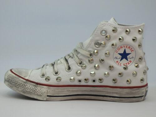 Hi Scarpe All Borchie Star Bianco Artigianali Optical Stellina White Converse qpOEHwp
