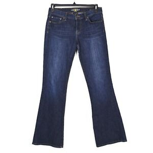 Lucky-Brand-Jeans-Womens-Sz-6-28-Blue-Sweet-N-Flare-Dark-Wash-Mid-Rise