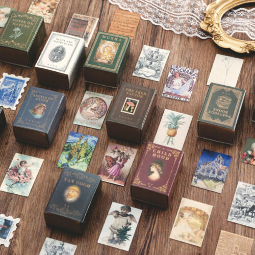 Diary Label Retro Style Boxed Stickers Paper Sticker Collection Of Books
