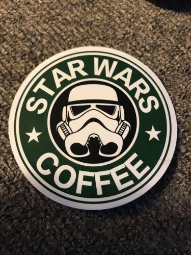 Glossy Laptop Waterbottle Sticker Star Wars Coffee
