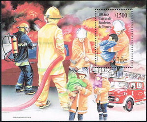 CHILE-1999-STAMP-SS-75-MNH-TEMUCO-FIREMEN-CORP
