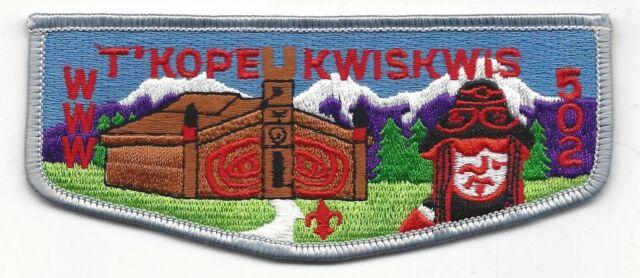 OA Lodge 502 T/'Kope Kwiskwis X5-20th Anniversary