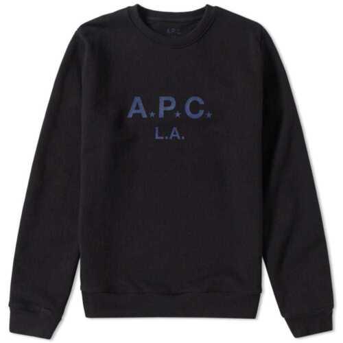 A Havey p L Run Small c Nouveau Apc Tissu Homme épais a Noirbleu Sweatshirt XwiTOPkulZ