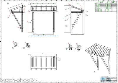 22 Baupläne Haustür Vordach Bauplan Anleitung Bauanleitung Holz Überdachung