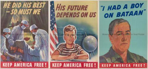 US WW2 WWII Propaganda Poster SET 24 PCS Victory Keep America Free vintage art
