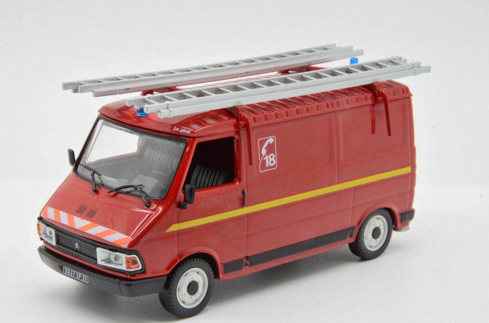 rara    CITROEN C35 Camión De Bomberos Feuerwehr van ALTAYA vehículos de POMPIERS 1 43