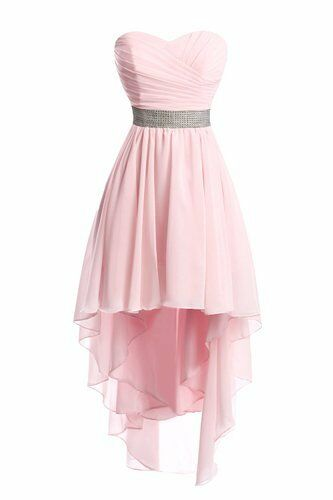 Plus Size 2-26 High Low Bridesmaid Dresses Homecoming Formal Prom Party Gown X06