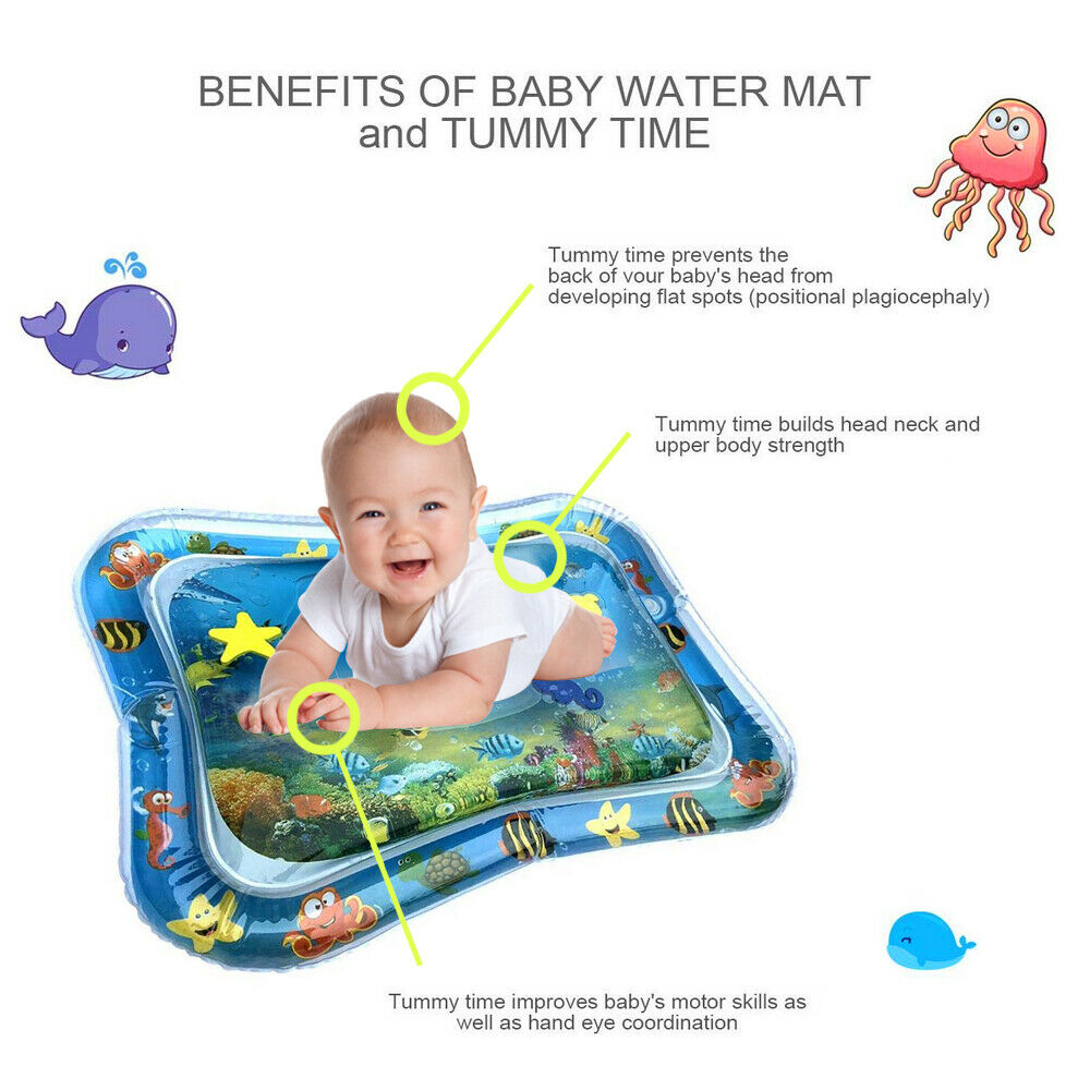 Inflatable Baby Water Mat Novelty Play for Kids Children Infants Tummy Time 2