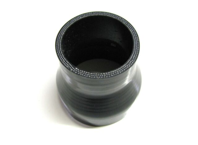 "BLACK Silicone Hose 70mm to 51mm Straight (Silicon) 2.75"" - 2"" (Reducer Joiner)"