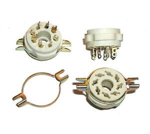 4-pcs-8-pin-Octal-Ceramic-Tube-Socket-Silver-Military-USSR-EL34-5881-6L6-6SN7
