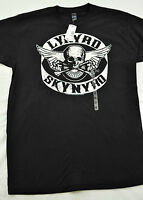 Mens Tultex T-shirt Black Whit Print Size Medium Cotton