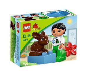 5685 Vet Bunny Rabbit Sealed Lego Duplo New Chocolate Set Legos