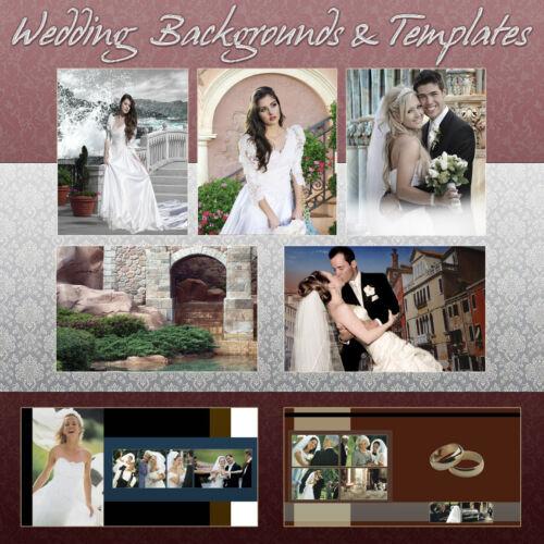 Digital Backgrounds Photography Backdrops Green Screen WEDDING TEMPLATES psd ***