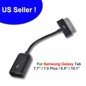 Lot-2X-Female-USB-Host-Power-Adapter-Cable-for-7-10-1-Samsung-Galaxy-Tab-1-2-3