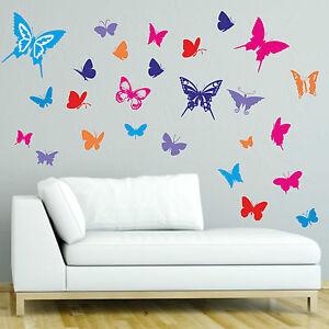 Sticker Mural 30 Colore Papillons Papillon Deco Stickers Muraux