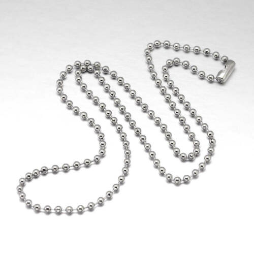 """2 Stainless Steel Ball Chain Bracelets 8/"""" with Connector Great Quality N219"""
