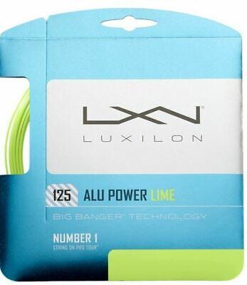 (1,80 €/m) Luxilon Alu Power Lime 125 12,2 M Corde Tennis-