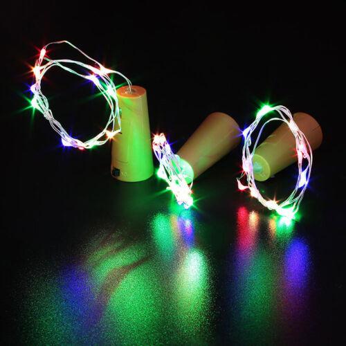 1-12x LED Cork with 20 LED Lights on a String Bottle Stopper Lamp Wedding Event