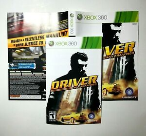 Manual And Artwork Only No Game Xbox 360 Driver San Francisco Ebay