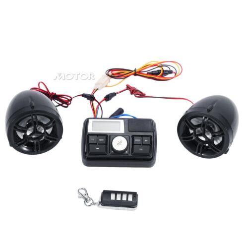 """7//8/"""" Handlebar FM Radio Stereo MP3 Speakers for Honda Shadow Spirit 750 1100"""