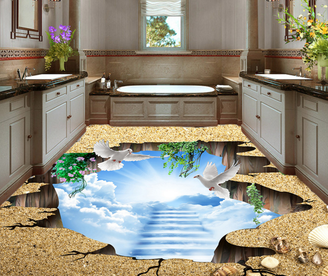 3D Weiß Tauben 5 Fototapeten Wandbild Fototapete Tapete Familie DE Lemon