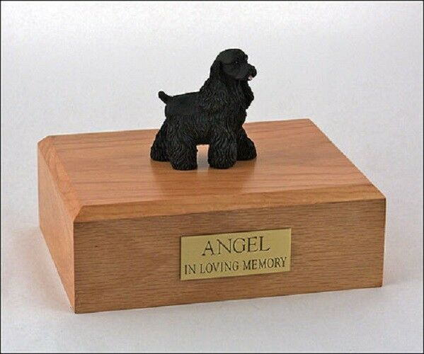 nero Cocker Spaniel Pet Funeral Cremation Urn Avail. in 3 Diff Colores & 4 Dimensiones
