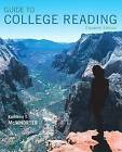 Guide to College Reading by University Kathleen T McWhorter (Mixed media product, 2016)
