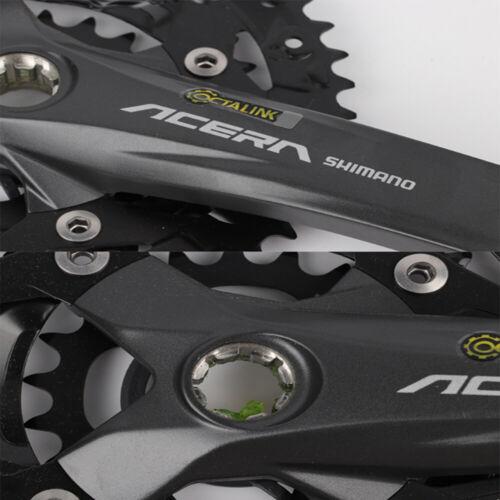 SHIMANO Acera FC-M391 9//27-speed MTB Spline Crankset 44-32-22T