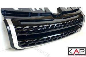 Prestige Gloss Black Silver Trim Front Grille Fits: Range Rover Evoque 2011-18