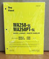 Komatsu Wa250-5l, Wa250pt-5l Wheel Loader Waste Handler Shop Service Manual