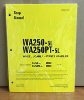 Komatsu Wa250-5l, Wa250pt-5l Wheel Loader Waste Handler Shop Service Manual