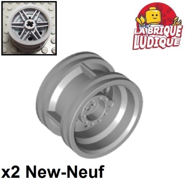 Lego 2x Wheel Rim Wheel 30.4 mm Diameter x 20 Reinforced White//White 56145 New