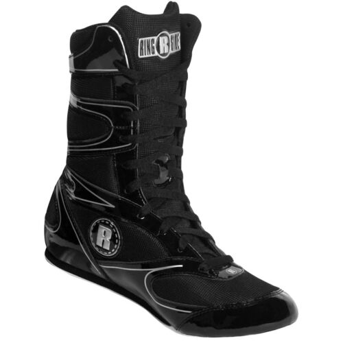 Ringside Hi-Top Undefeated Boxing Shoes Black