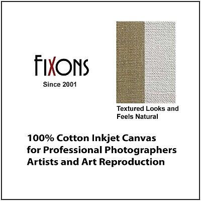 "Ultra Premium 100/% Cotton Inkjet Canvas Satin For HP 44/"" x 40/' Roll"