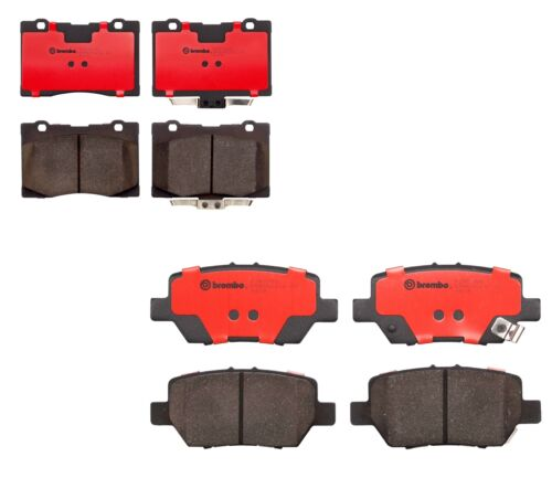 Front and Rear Brembo NAO Ceramic Brake Pad Set Pads Kit For Acura RL 2005-2012